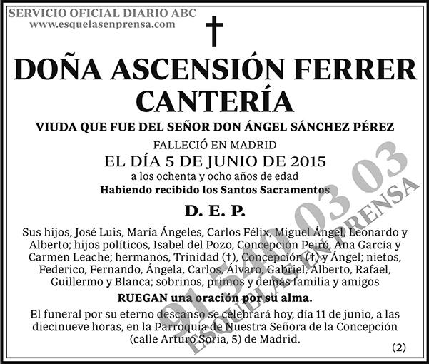 Ascensión Ferrer Cantería